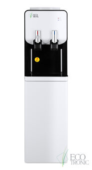 Кулер для воды Ecotronic M40-LCE white+black со шкафчиком
