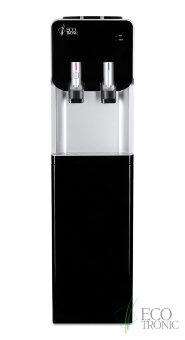Кулер для воды Ecotronic M40-LCE black+silver со шкафчиком