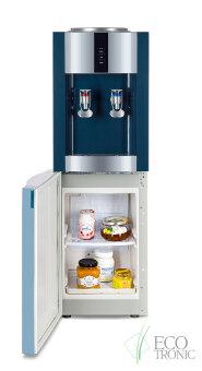 "Кулер для воды ""Экочип"" V21-LF green+silver c холодильником"