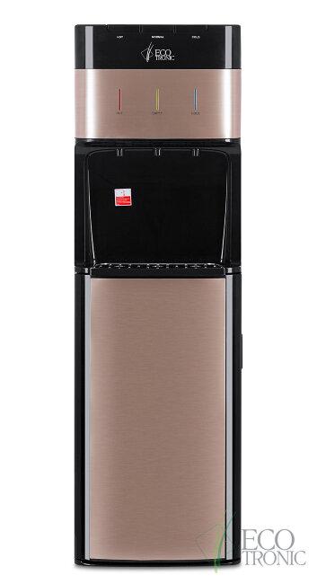 Кулер для воды Ecotronic M30-LXE black+gold с нижней загрузкой бутыли