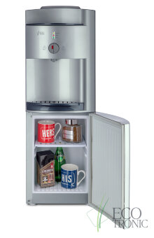 Кулер для воды Ecotronic G41-LCE silver со шкафчиком