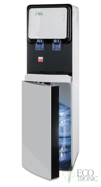 Кулер для воды Ecotronic M50-LXE white+black с нижней загрузкой бутыли